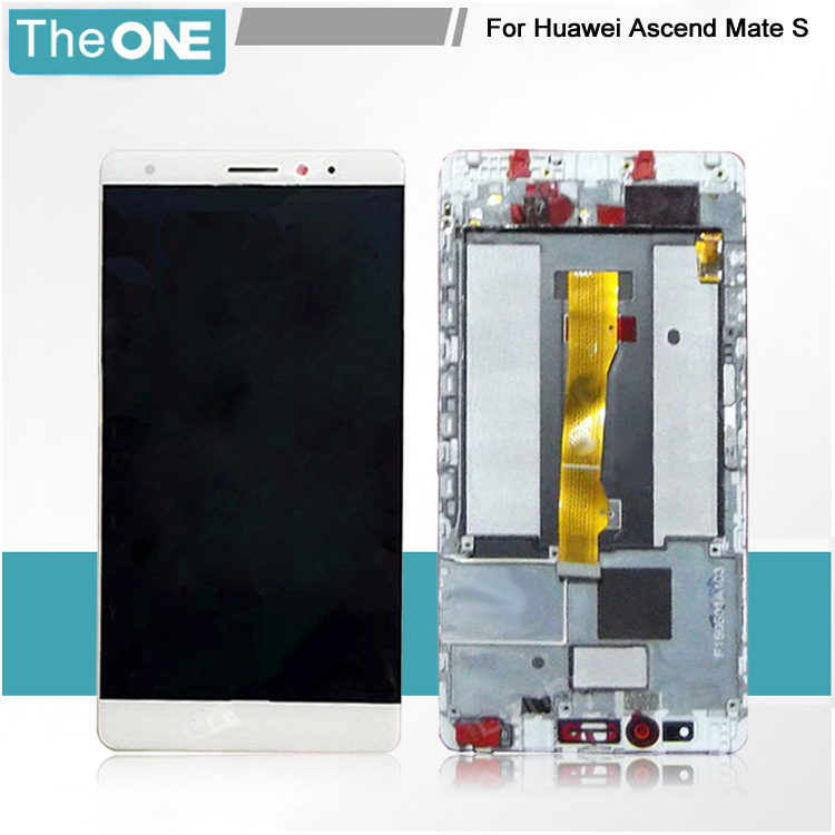 White/Black/Gold for Huawei Ascend Mate S LCD display screen+Touch digiziter Assembly With frame Free Shipping 6 0 lcd display digitizer touch screen with frame for huawei ascend mate 7 mt7 white black gold free shipping