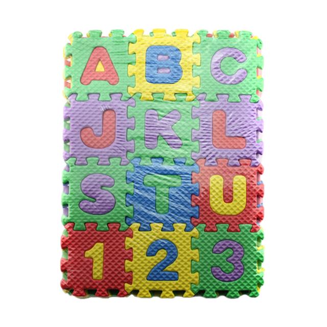 36Pcs DIY Plates Infant Child Toy Alphanumeric Educational Puzzle Alphabet Bubble Puzzles Mats Board Game