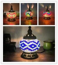 Ретро, Национальный стиль прикроватная тумбочка для спальни ночник ресторан кафе бар Турция декоративная лампа