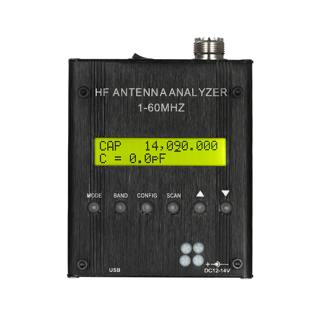 MR300 Digital Shortwave Antenna Analyzer Meter Tester 1-60MHz RF SWR for Ham Radio with Bluetooth high quality precision skin analyzer digital lcd display facial body skin moisture oil tester meter analysis face care tool