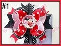 """free shipping 30pcs 4.5""""  Inspired Boutique Layered Hair Bow birthday hair bows girl hair clips -A"""