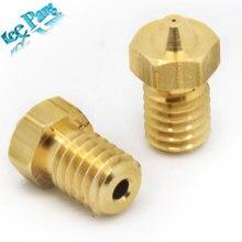 5PCS/LOT 3D Printer Accessories Full Metal  M6 threaded nozzle 0.2/0.25/0.3/0.35/0.4mm/0.5/0.6 for 1.75mm filamnet for  V5/V6