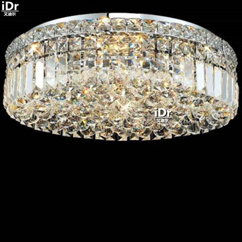gold Ceiling Lights modern luxury hotel lobby lamp bedroom lamp polished chrome chandelier 50cm W x 15cm H