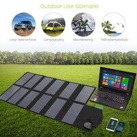 80 Вт солнечная панель портативная водонепроницаемая сумка для зарядки на открытом воздухе 18 V DC & 5 V USB выход солнечное зарядное устройство д