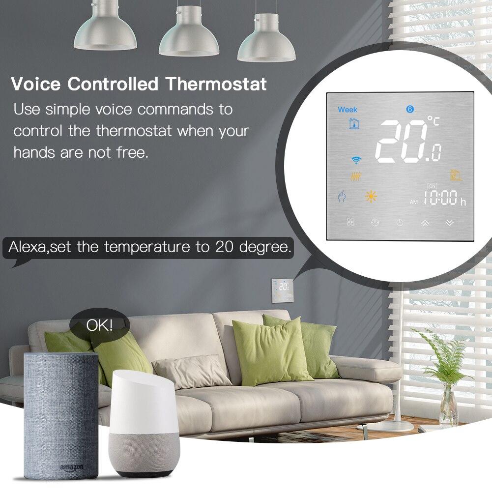 Le régulateur de température intelligent de Thermostat de WiFi pour l'eau/la chaudière électrique de chauffage par le sol d'eau/gaz fonctionne avec Alexa Google Home - 3