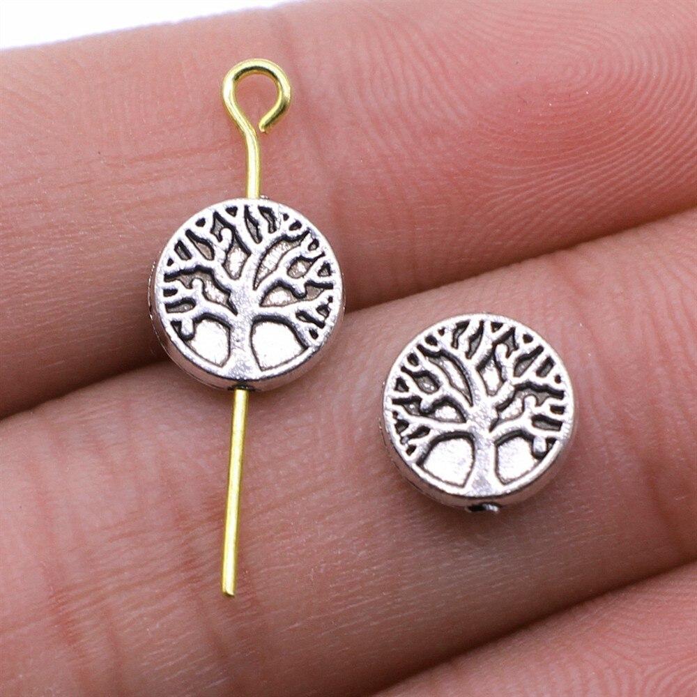 WYSIWYG 20 шт антикварные серебряные цветные бусины Древа Жизни для изготовления ювелирных изделий браслет DIY аксессуары ремесло