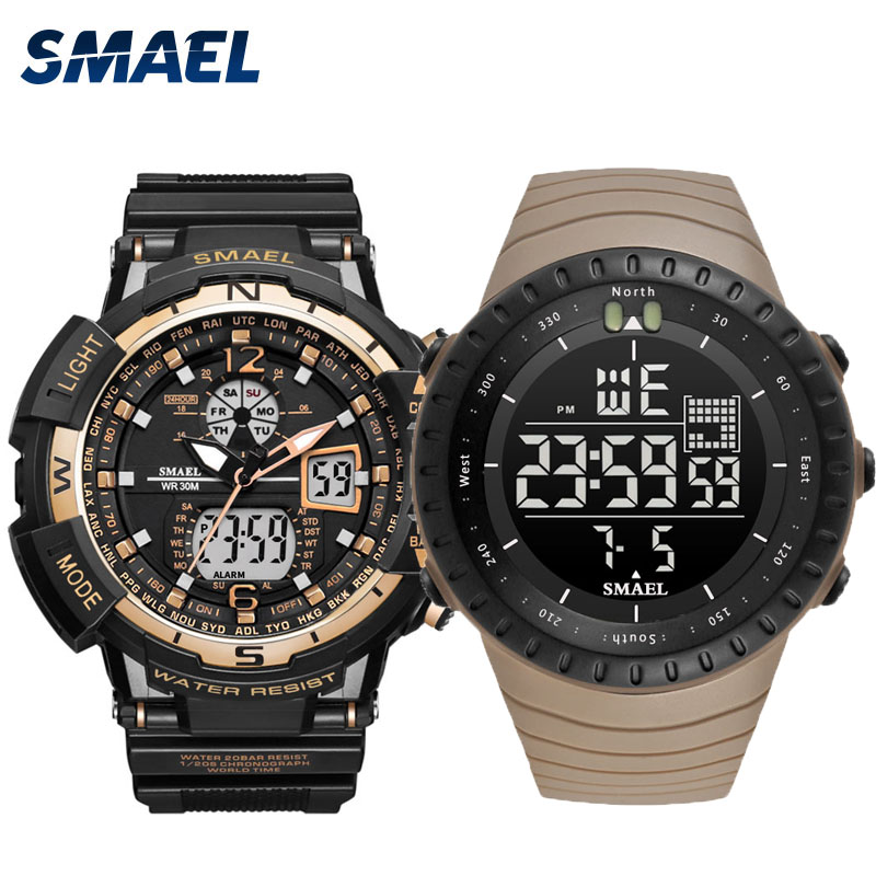 SMAEL ARMY sport watches set mens waterproof clock 1376 1237SMAEL ARMY sport watches set mens waterproof clock 1376 1237