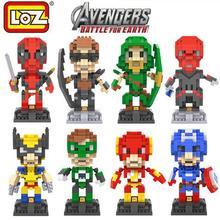 LOZ Marvel Super Heroes Deadpool Diamond Micro Building Blocks font b Action b font font b