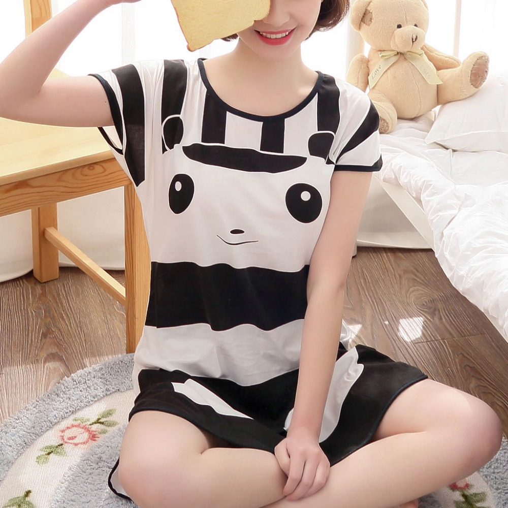 Short Sleeve Sleep Dress  Nightdress