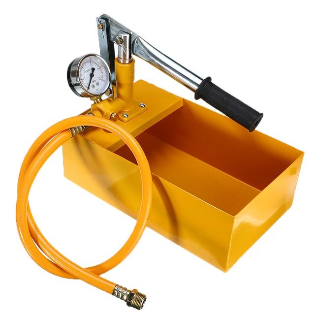 Nowy 25KG ręczne hydrauliczne ciśnienie wody Test rurociągu Tester pompy narzędzie pomiarowe do ciśnienia wody pompa testowa maszyna metalowa