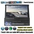 Управления рулевого колеса сенсорный экран Bluetooth car MP4 MP5 Плеер Радио стерео FM TF USB 7 дюймов 1 дин видео камера заднего вида вход