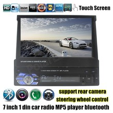 steering wheel control touch screen Bluetooth car MP4 MP5 Player Radio Stereo FM TF USB 7 inch 1 din video rear camera input