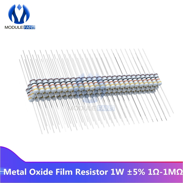 5W Carbon Film Resistor Resistance 5/% 5.1R 51R 510R 5.1K 51K 510K Ohm