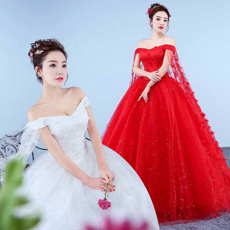 Elegant Red Ball Gown Wedding Dresses Real Sample Sexy Sweetheart Beaded Applique 2019 Wedding Dresses Lace Up Back Bridal Gowns