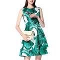 Runway dress alta qualidade 2017 das mulheres sem mangas o pescoço tanque impresso dragonfly curto beading dress triste 250