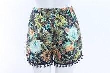 New Boho Ethnic Print High Waist Beach Shorts