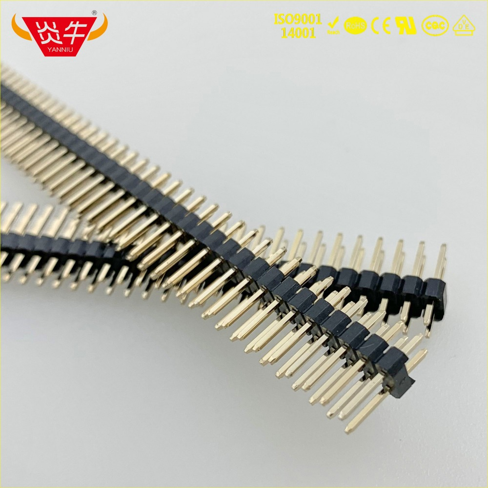 2.54mm PITCH 2X40P 80PIN MALE <font><b>STRIP</b></font> <font><b>CONNECTOR</b></font> SOCKET DOUBLE ROW STRAIGHT <font><b>PIN</b></font> <font><b>HEADER</b></font> WITHSTAND HIGH TEMPERATURES GOLD PLATED 1Au image