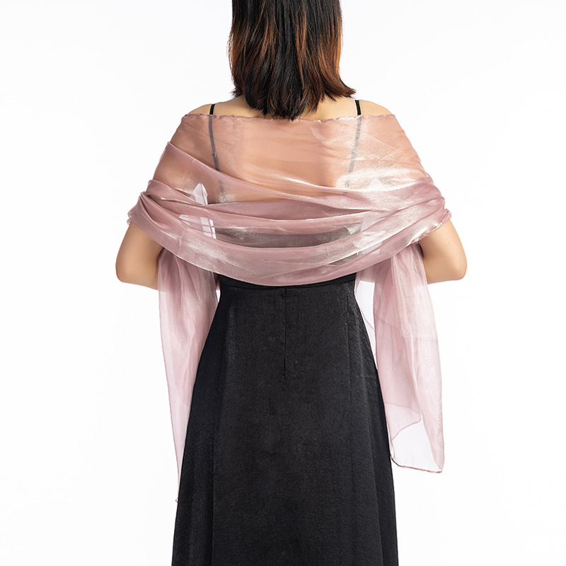 2019 New Elegant Women Silky Iridescent   Scarf     Wrap   Stole Shawl For Wedding Bridal Bridesmaids Evening Wear Prom and Parties