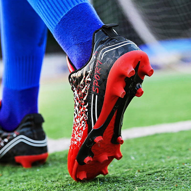 Men's Original New AG Football Shoes Man Long Spikes FG Kids Boys Soccer Cleats Sneakers