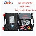 600A Peak Current 12 В Автомобиль Скачок Стартер 4USB Power Bank автомобильный Аккумулятор Booster Зарядное Устройство Аварийного Пуска Двигателя Авто SOS flash свет