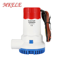 Bilge Boat Electric Water Pump Small Size Larger 1500GPH DC 12V 6A 1 1/8 Inch Outlet Submersible For Yacht Boat
