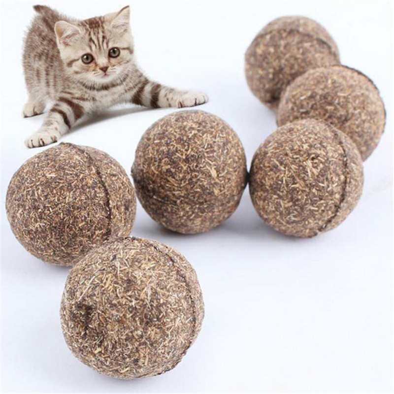 Cat Toy Natural Catnip Treat Ball Favor Home Chasing Pet Toys Healthy Safe 100% Edible Treating Cats Playing Cleaning Teeth Toy