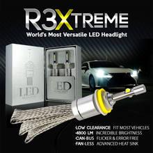 R3 Car LED Farol Kit XHP50 H1 H3 H4 H7 H9 H11 9005 HB3 9006 HB4 9600LM Automóveis Farol Farol do Carro Fog Lâmpadas Branco