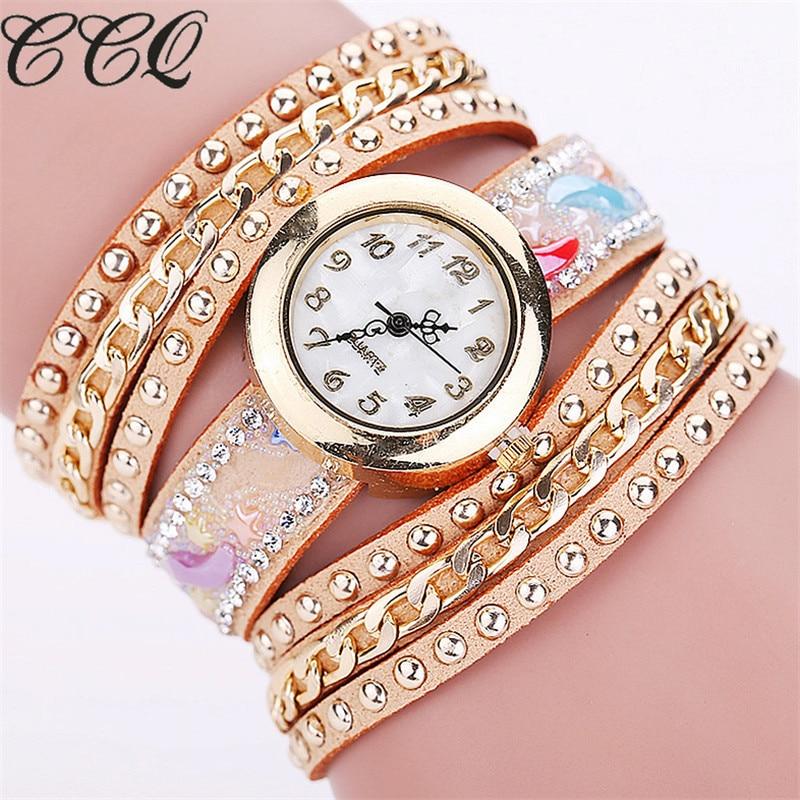 CCQ New Fashion Women Bracelet Watches Casual Women Quartz Watch Relogio Feminino Reloj Mujer Clock 1831