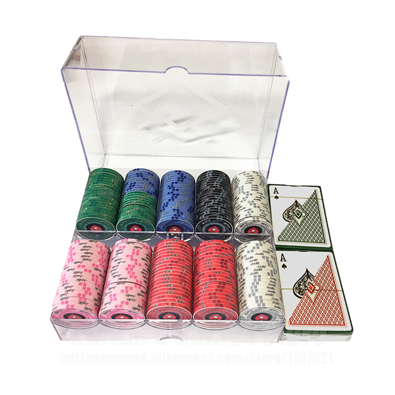 200PCS Poker Chips Set With Box & 2 Plastic Playing Cards Casino Token Kit World Series/EPT Poker Chips200PCS Poker Chips Set With Box & 2 Plastic Playing Cards Casino Token Kit World Series/EPT Poker Chips