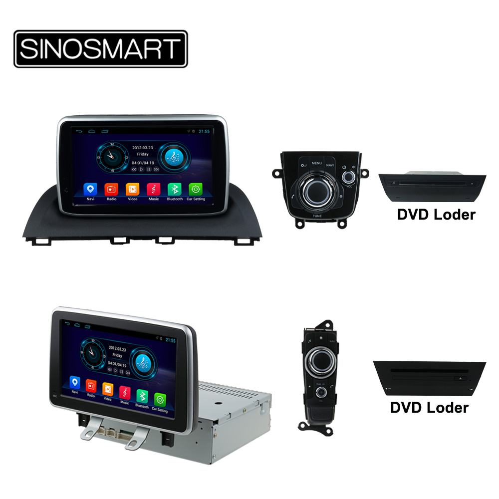 US $318 79 29% OFF|SINOSMART Quad Core Android 8 1 2G RAM Car Radio GPS  Navigation Player for Mazda 2/Mazda 3/Axela/CX 3 2014 2019 No Canbus-in Car