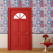 25Pcs Self Adhesive Tile Art National Style Wall Decal Sticker DIY Kitchen Bathroom Decor Vinyl For Home Decoration