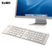 KuWfi Ultra Slim Wireless Bluetooth Keyboard 3.0 Foldable Universal for Android Windows IOS Devices