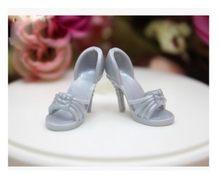 e2cf26d3e98c9a Wazige schoonheid Hoge hak schoenen Zwart Laarzen voor Barbie 1 6 Doll  Fashion Nieuwe BBI002588