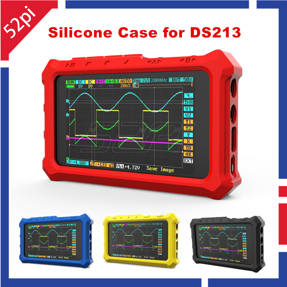 52Pi Protective Silicone Case Rubber Case For Mini DSO DS213 DSO213 DS203 DSO203 Oscilloscope, 4 Colors Available Optional