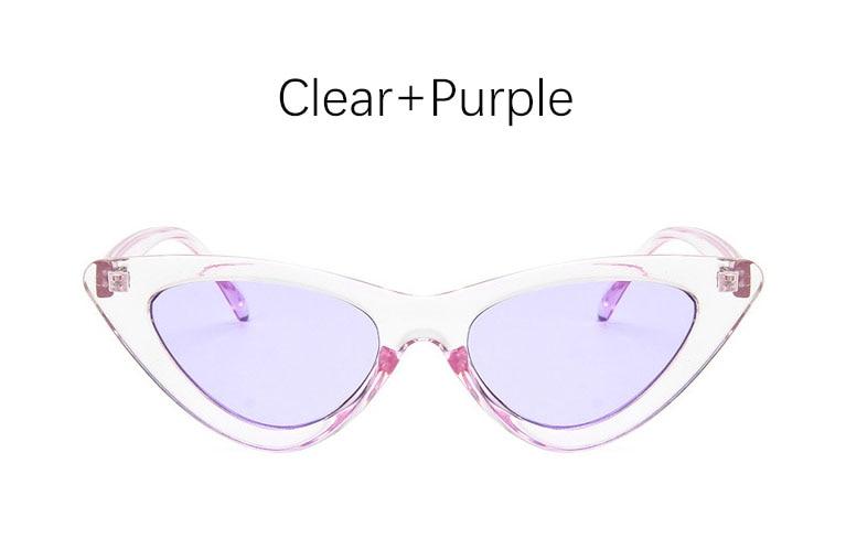 cat eye shade for women fashion sunglasses brand woman vintage retro triangular cateye glasses oculos feminino sunglasses Sexy 7
