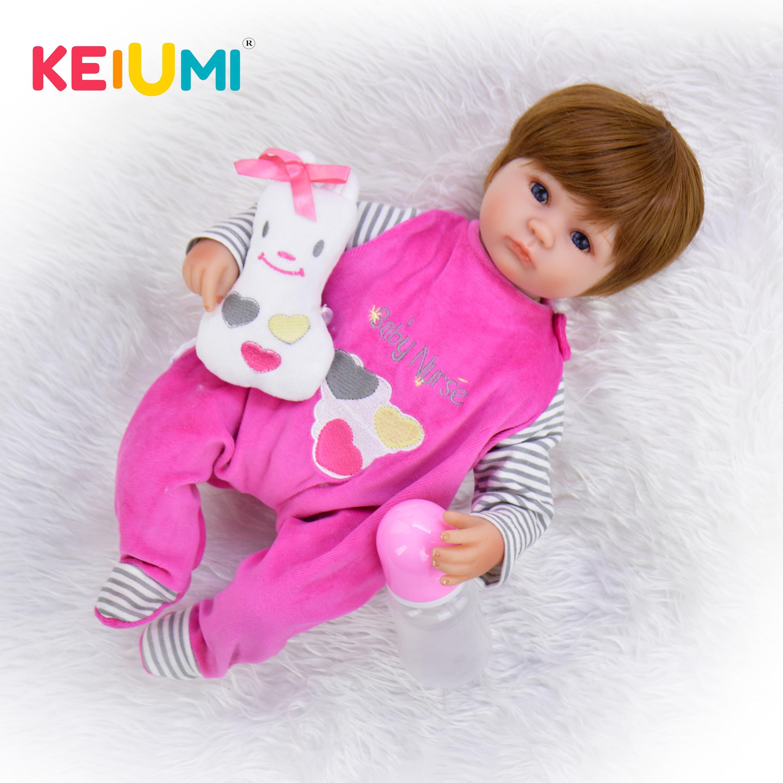Fashion 17 Inch Newborn Dolls Soft Silicone Vinyl Realistic Babies Reborn Dolls 42 cm Lifelike bebe