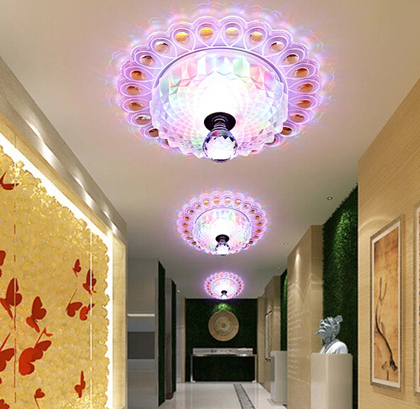 Ceiling Lights & Fans Buy Cheap Home Led 3w Hall Light Walkway Porch Decor Lamp Sun Flower Creative Led Ceiling Lights Lights & Lighting