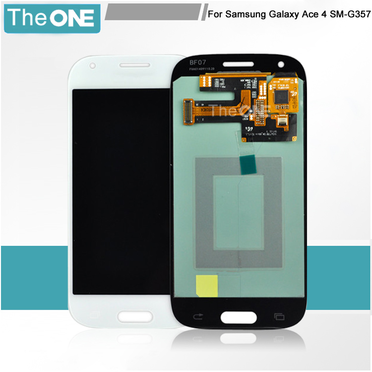 LCD Display Touch Screen Digitizer assembly replacement for Samsung Galaxy Ace 4 SM-G357 G357 G357FZ Grey/White
