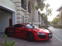 Best Quality Stretchable Red Chrome Vinyl Wrap Film Car Decal Air Free Bubble Size 1 52
