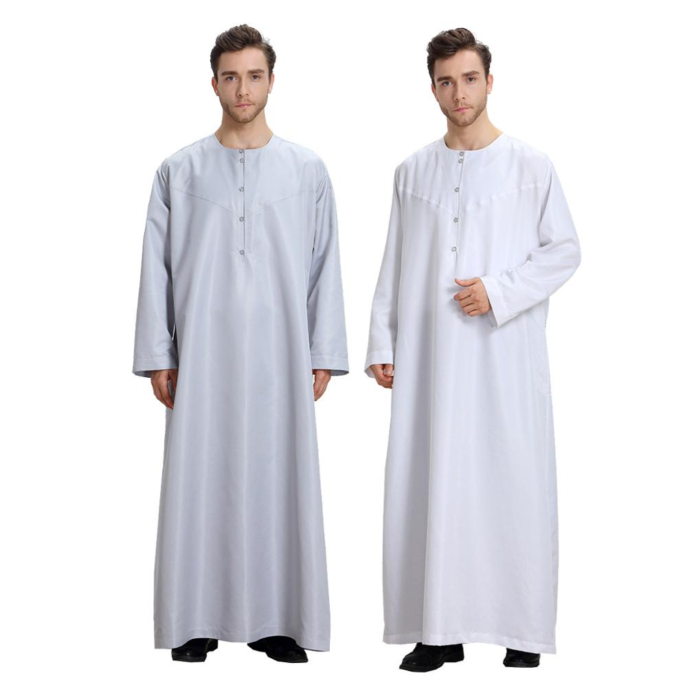 Arab Muslim clothing for men thobe Arabic Islamic abayas dress Indian mens kaftan Robe Men XXL XXXL Plus size Clothes 061701 Одежда