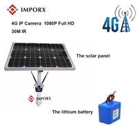 4G 1080P Bullet IP Camera With Solar Pannel