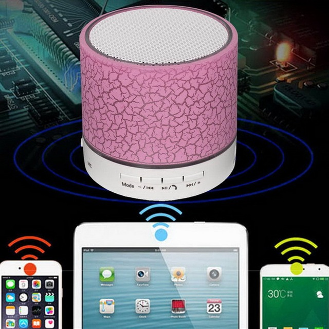 LED Portable With TF USB FM Mic Blutooth Music For Mobile Phone iPhone 6 7 s Mini Bluetooth Speakers Wireless Hands Free Speaker