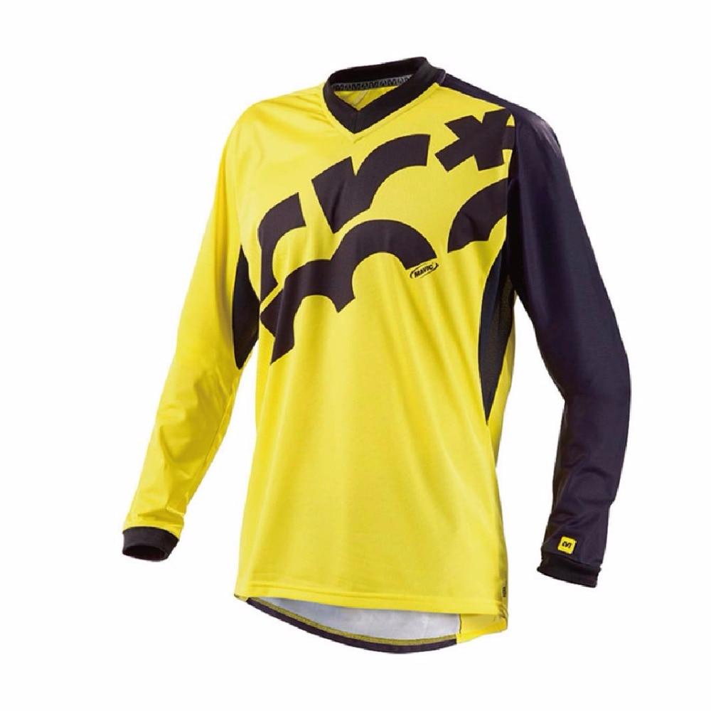 2017 Mountain Bike MTB DH MX RBX Mountain Bike Running Wear Motocross Cross Country Jersey Men Long Sleeve Riding XXS TO 5XL