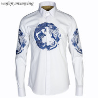 China Fashion Latest Style With Embroidered Long Sleeve Men S Shirt High Quality Classic Men Dress