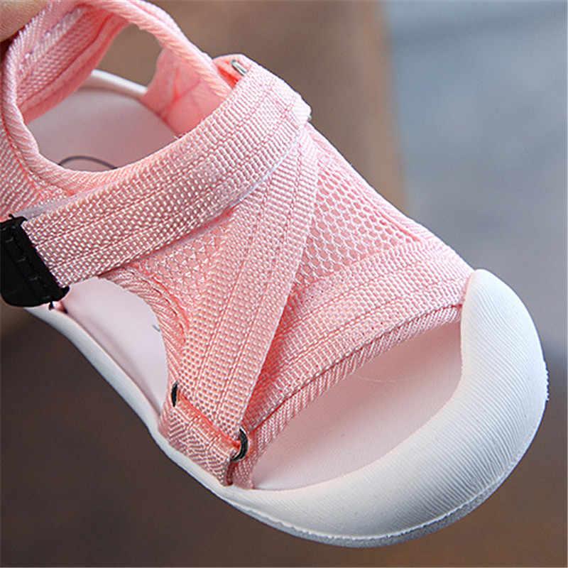 DIMI 2020 letnie dziecięce buty dla małego dziecka dziewczynki chłopcy maluch sandały antypoślizgowa oddychająca miękka Kid buty antykolizyjne