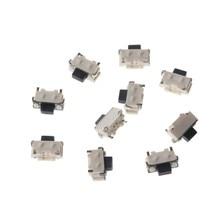 Botão lateral tático, botão interruptor tático micro smd smt com 10 peças/1 conjuntos