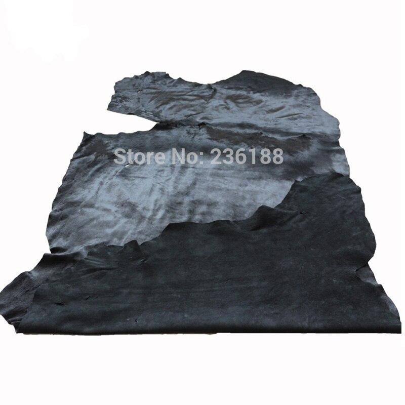 Weiche schwarze echte Kalb-Haar-Leder-Haut für Kissen / - Kunst, Handwerk und Nähen - Foto 4