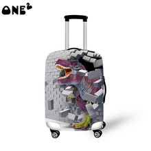 ONE2 Various Fashion 3D Dinosaur Pattern Travel Accessories Suitcase Protective Cover Supply For 22 to 26inch Luggage Cover