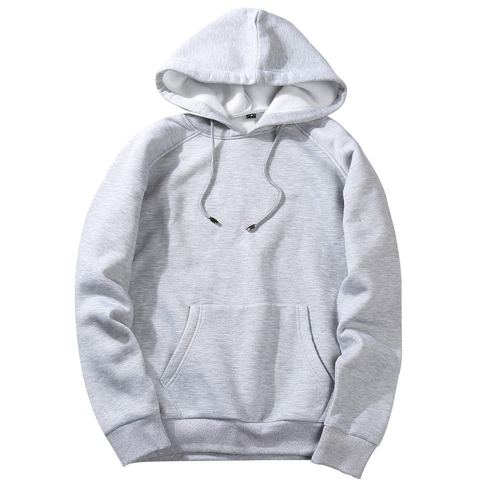 Men's Sportswear Long Sleeve Workout Tops Mens Sports Jackets Gym Sweater Shirts Sport Hoodies For Autumn Training Europe Size - Цвет: light grey