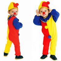 Halloween Costumes Kids Children Circus Clown Costume Naughty Harlequin Fantasia Cosplay Clothing For Boys Performing Costume
